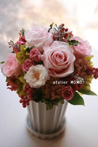 桜色のバラで。_a0136507_19535729.jpg