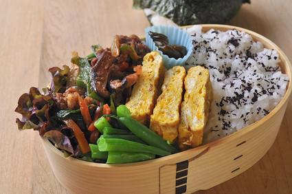 プルコギのお肉とインゲンのお弁当_b0171098_88364.jpg
