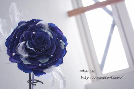 白いドレスに映えるブルーのメリア_c0198981_1122936.jpg