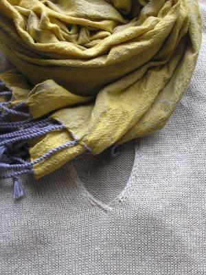麻のセーターとクロマーⅡ_b0207631_18274652.jpg