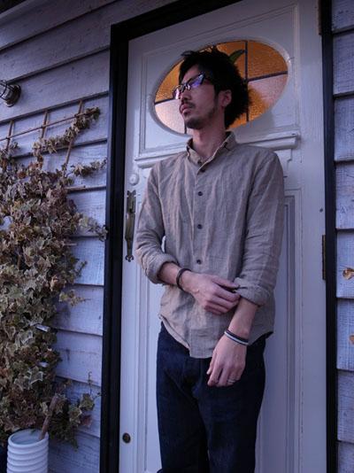 リネンのシャツ。_a0113127_18185252.jpg