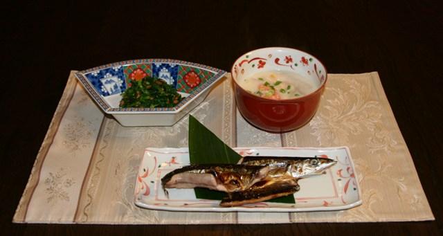 ★秋刀魚の干物(287kcal)_f0229190_1146433.jpg