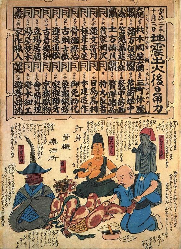 浅草寺の被害を描いた鯰絵_c0187004_16553844.jpg