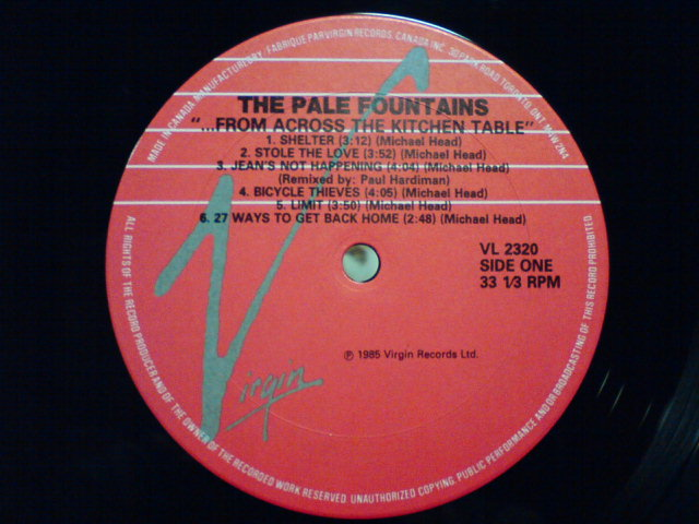...From Across The Kitchen Table / The Pale Fountains_c0104445_21553964.jpg