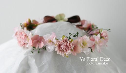 桜をいれたフラワーアクセサリー アーティフィシャルフラワー_b0113510_21215850.jpg