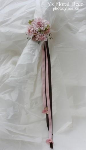 桜をいれたフラワーアクセサリー アーティフィシャルフラワー_b0113510_21222767.jpg