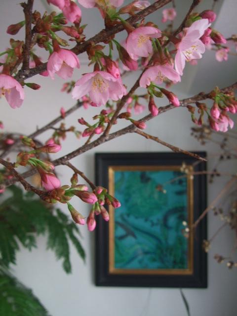 オークリーフ(白木蓮と黒いカラーの花)_f0049672_14443221.jpg