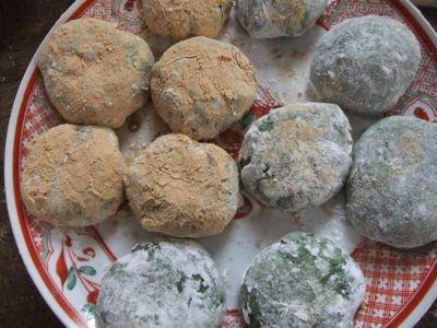 私流、お正月の残りのお餅でよもぎ餅作り_d0148902_149568.jpg