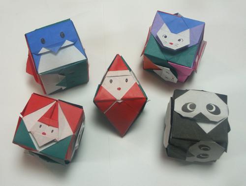 ハート 折り紙 折り紙 ユニット 簡単 : origami01.exblog.jp