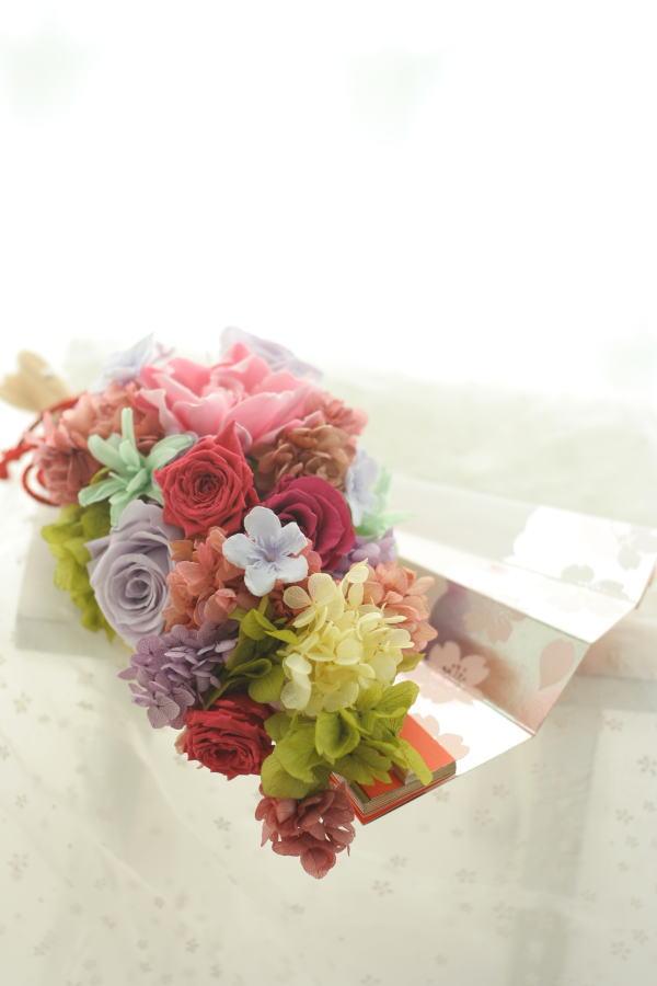 おばあさまへ 扇の花のギフト_a0042928_20201440.jpg