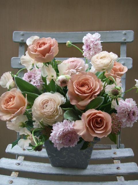 オークリーフ(シュナーベルと微妙なピンク色の花たち)_f0049672_17154949.jpg