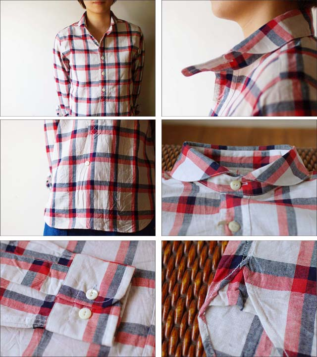Haver Sack [ハバーサック] indigo check shirts リネンチェックシャツ [8211370] LADY\'S LADY\'S _f0051306_1639531.jpg
