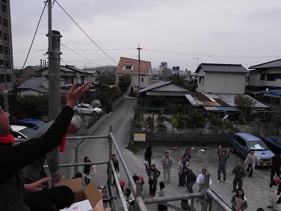 那珂川町で上棟!!_c0079640_17444100.jpg