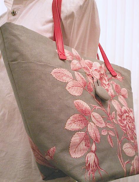 サンダーソンの生地でバッグを作りました。_c0157866_13534897.jpg
