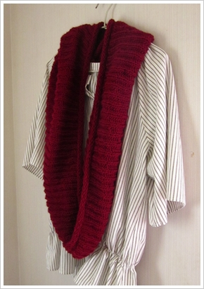 棒針編み★ふんわり優しいスヌード編み方&編み図