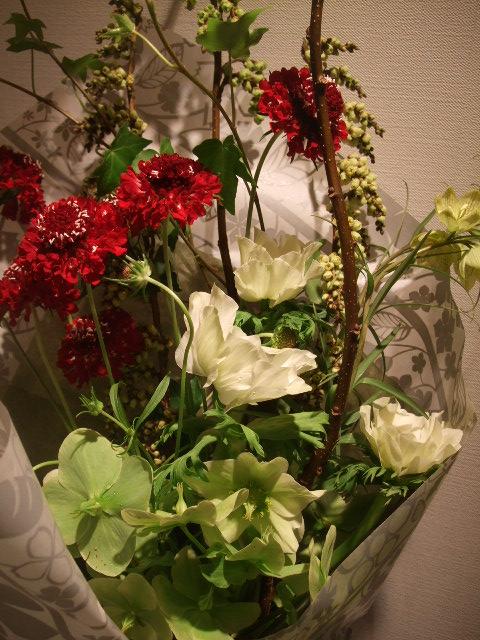 オークリーフ(ナチュラルシックな花束を・・)_f0049672_13395195.jpg