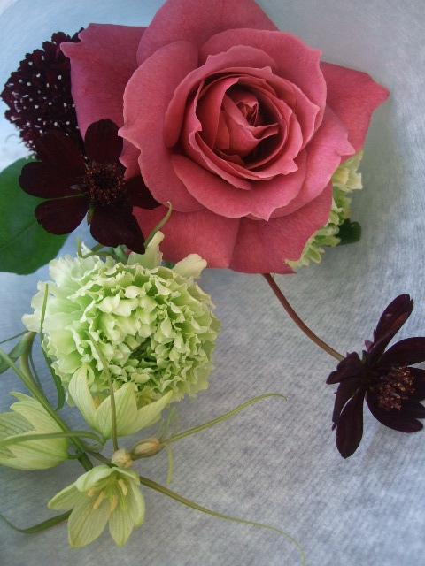オークリーフ(ナチュラルシックな花束を・・)_f0049672_13535582.jpg