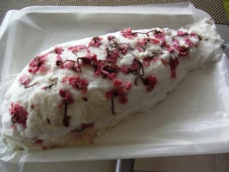 桜の花香る、鯛の塩焼き_a0138976_1712137.jpg