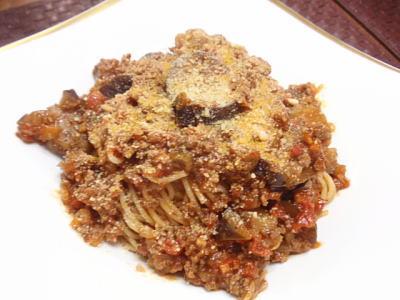 茄子とひき肉たっぷり☆ミートソースパスタ(レシピ付)  kajuの■今日のお料理・簡単レシピ■