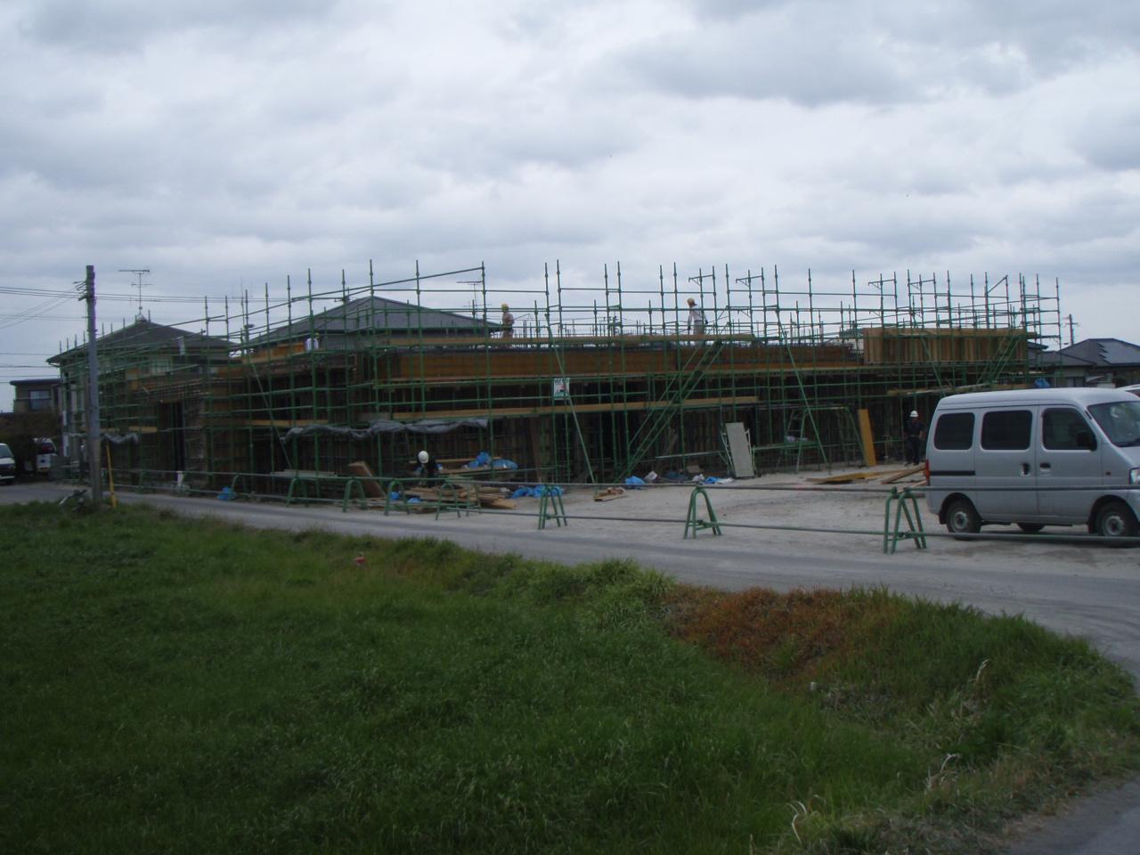 1階壁の型枠工事完了~宮崎の動物病院_d0174072_981561.jpg
