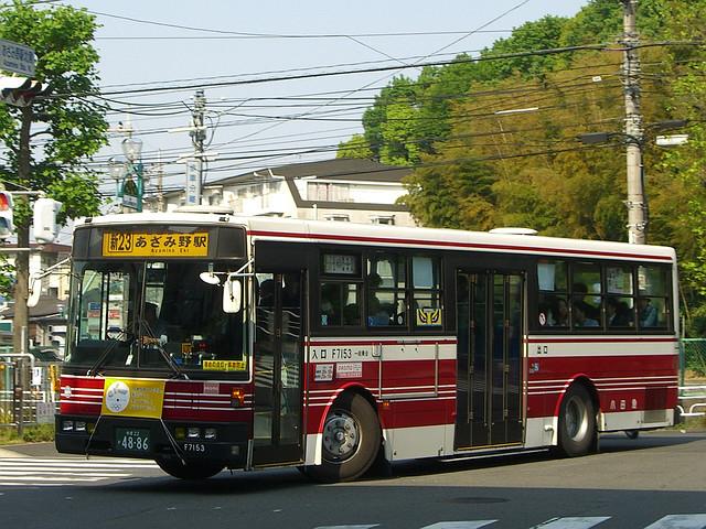 小田急バス 96-F7153 : 旧路線バ...