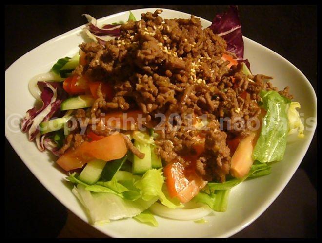 【ウチ料理】UDONサラダが美味しい(暑い日が続いて・・・)PARIS_a0014299_19493957.jpg