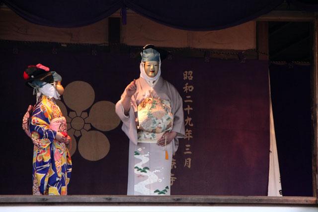京の花だより 清涼寺 狂言_e0048413_2145573.jpg