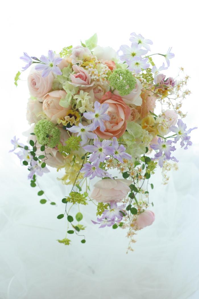 春、桜のころに シャワーブーケ  日比谷パレス様へ  _a0042928_15132726.jpg