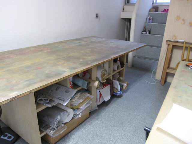 麻のテーブルセンター_f0180433_17474665.jpg