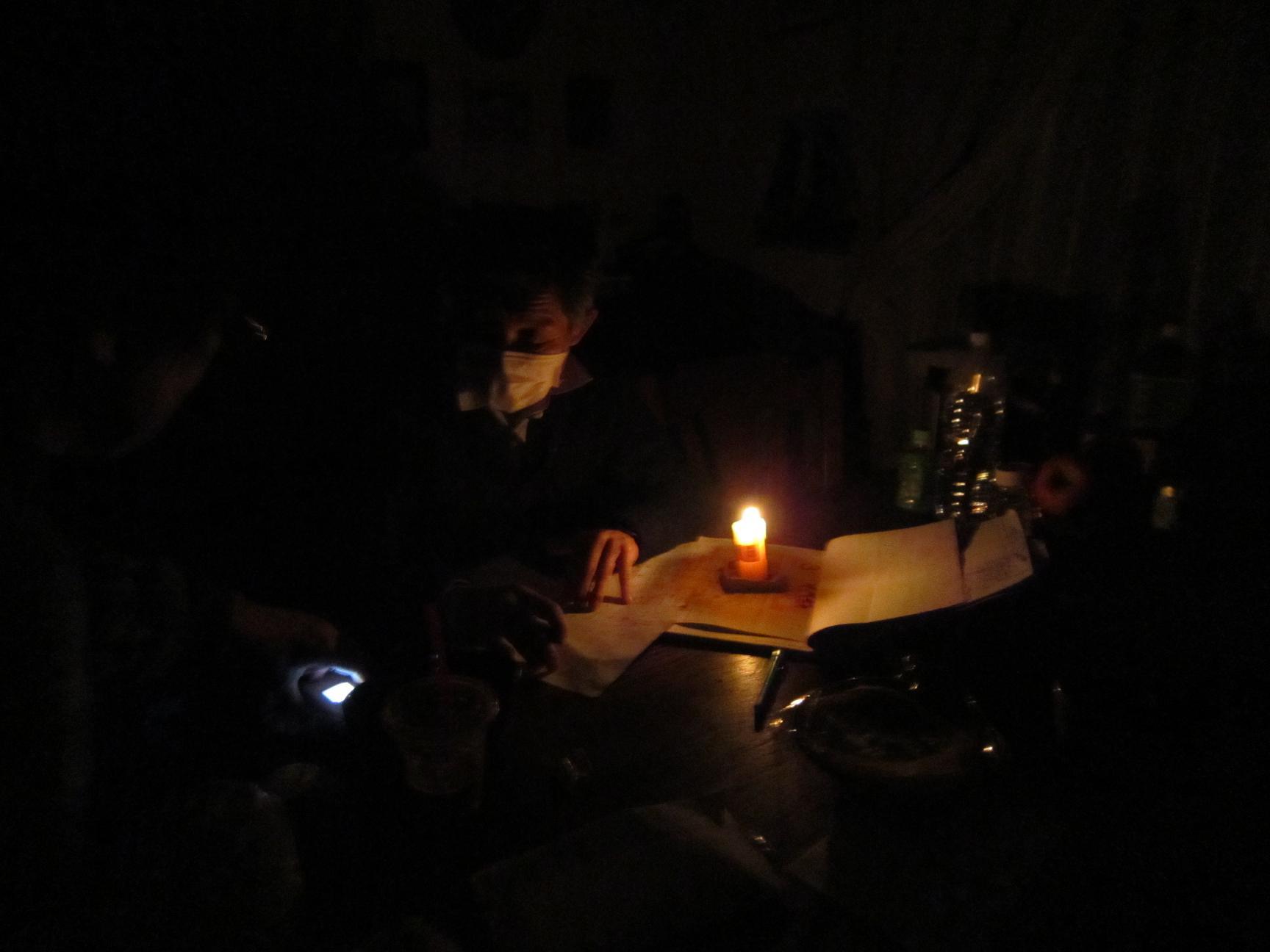 計画停電初日 バゥ_d0084229_2305168.jpg