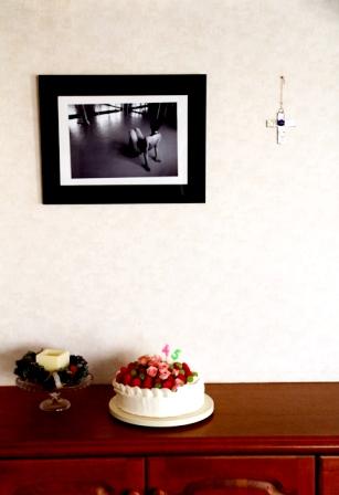 オットさん の バースデーケーキ*_d0034447_2211489.jpg