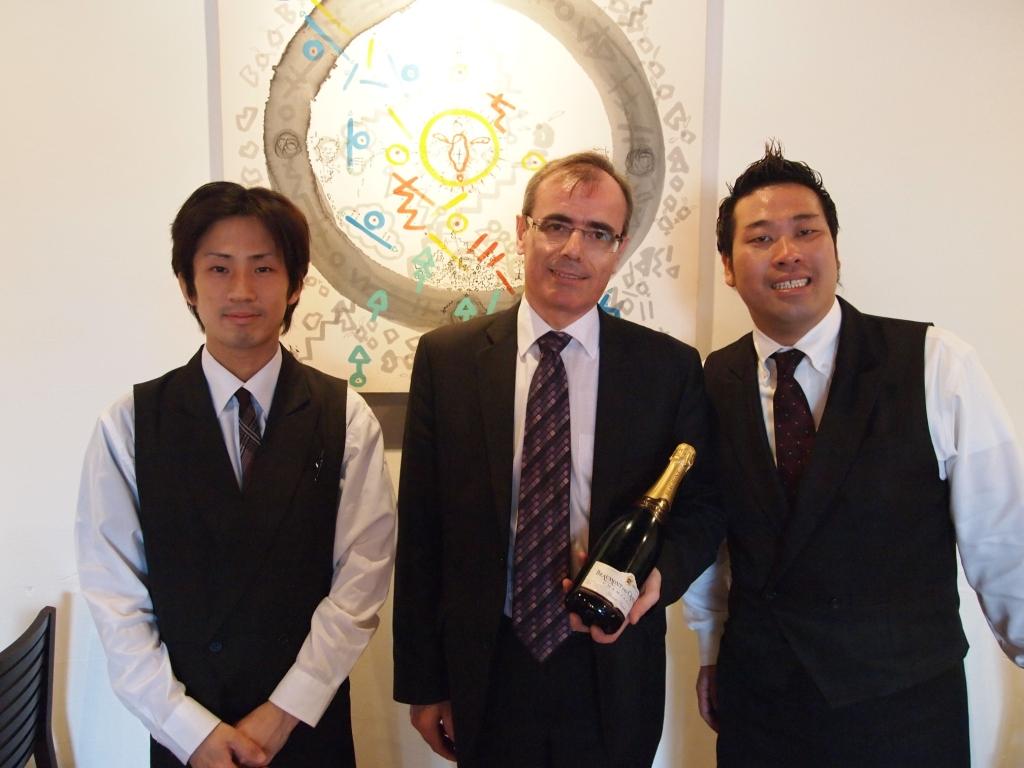 「ボーモン・デ・クレイエール」最高醸造責任者・・・来店♪_b0077531_23322419.jpg