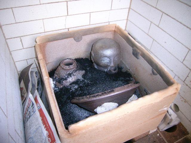 冷却還元(CRF)の窯が出ました & 桜開花情報♪_e0046128_1458663.jpg