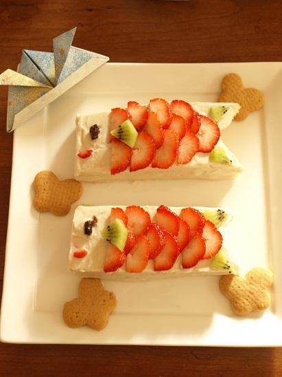 イチゴたっぷりの「こいのぼりケーキ」なら女の子もごきげん!