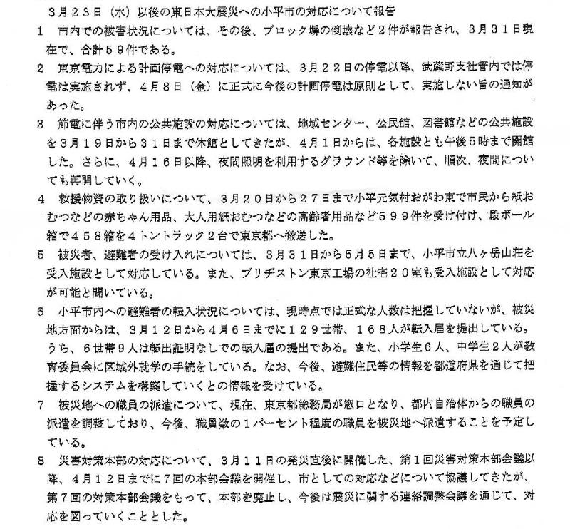 東日本大震災への小平市の対応について_f0059673_232527.jpg