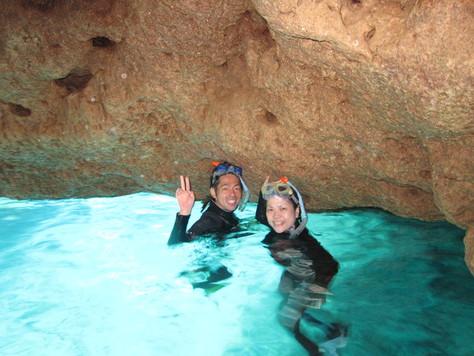 4月16日最高の夏日にジンベエザメとダイビング&青の洞窟_c0070933_16404947.jpg