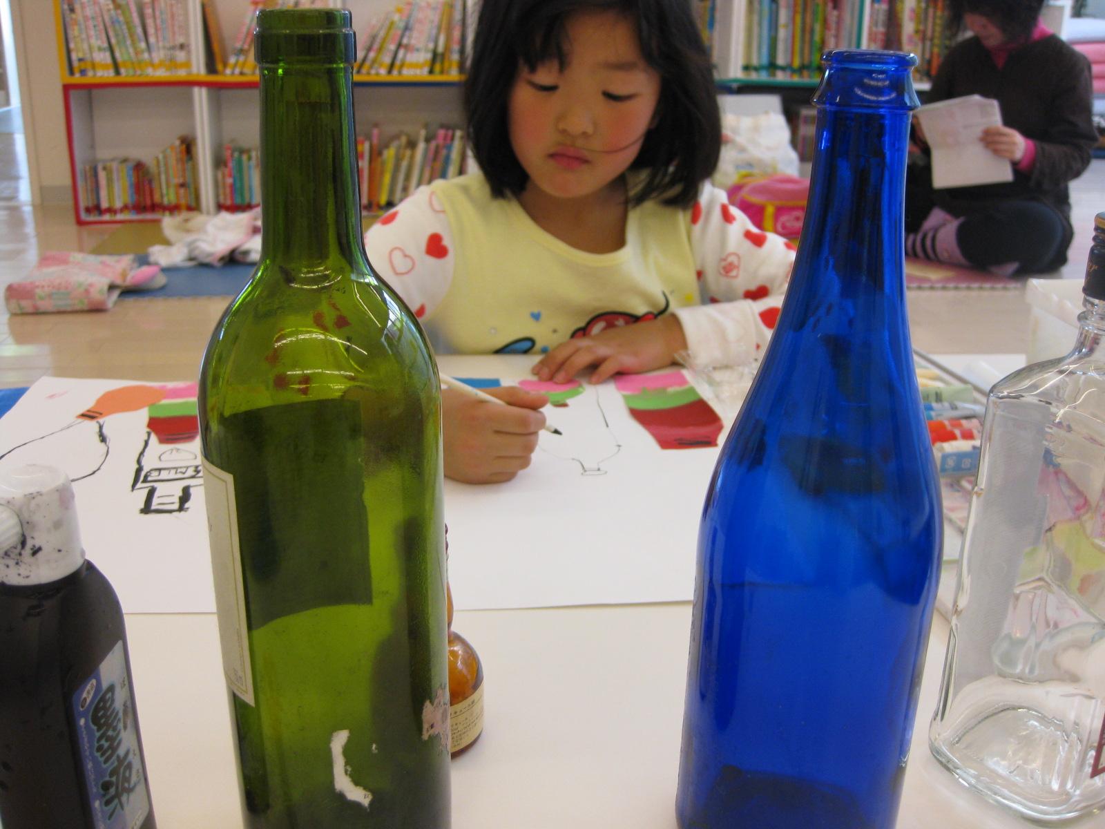 名画の模写・ビンのコンポジション~松井山手教室_f0215199_12222621.jpg