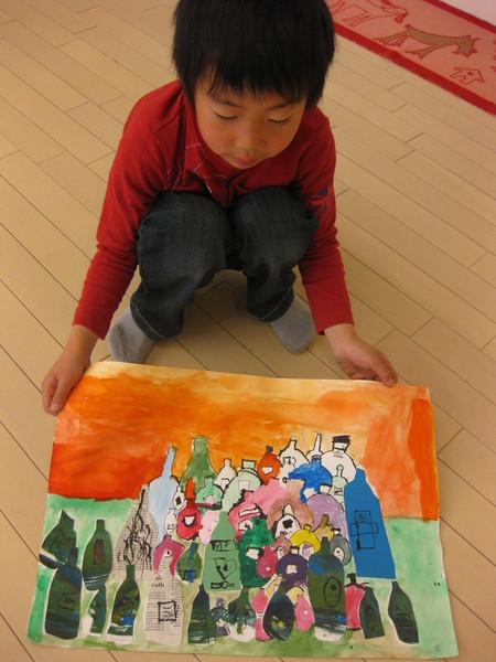 名画の模写・ビンのコンポジション~松井山手教室_f0215199_12262294.jpg