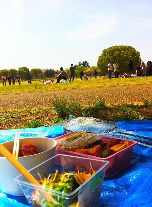 菜の花畑でピクニック!_e0046675_22231073.jpg