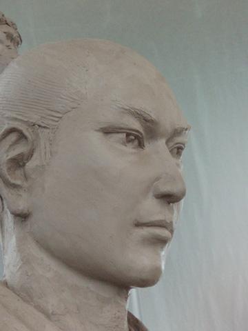 銅像監修のため_b0145843_2051128.jpg