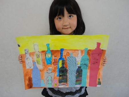 ビンのコンポジション・名画の模写 長尾教室_f0215199_23421318.jpg