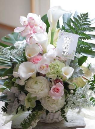 故人を偲ぶ会へお届けのお花_f0213974_2052334.jpg