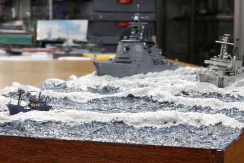 2011年模競第2戦 1/700洋上ディオラマ -2_f0145483_17253942.jpg