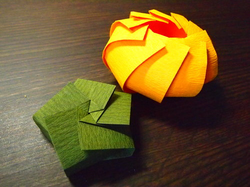 すべての折り紙 長方形の折り紙 : 全部一枚の長方形の紙を折った ...