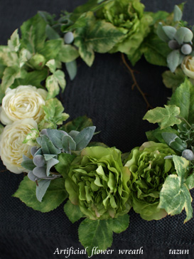 wreath♪ white x green_d0144095_22372528.jpg