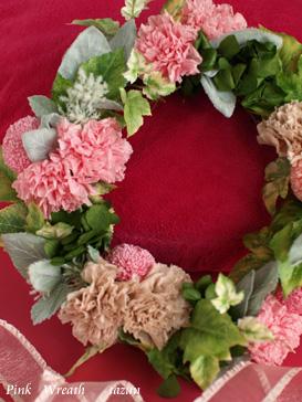 wreath♪ pink x green_d0144095_19525420.jpg