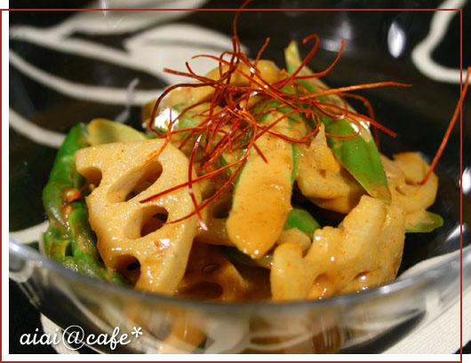 アスパラとレンコンのピリ辛胡麻風味和え_a0056451_20302062.jpg