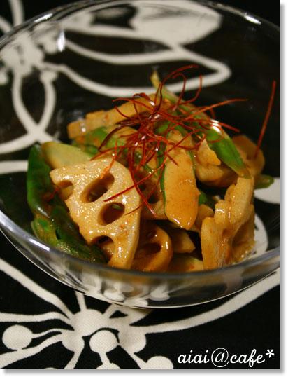 アスパラとレンコンのピリ辛胡麻風味和え_a0056451_23483590.jpg