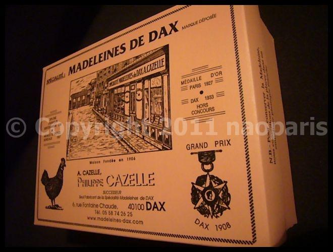 【マドレーヌ】MADELEINES DE DAX(CAZELLE)_a0014299_19354360.jpg