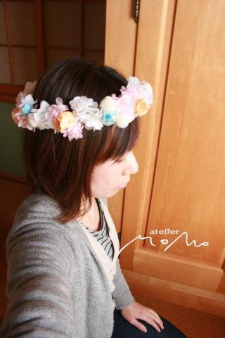 花冠~淡いグリーンのドレスに~_a0136507_20393417.jpg